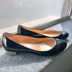JCREW Outlet Faux Black Patent Flats FREE SHIPPING